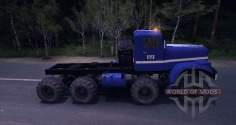 KrAZ 8 x 8 Trial for Spin Tires