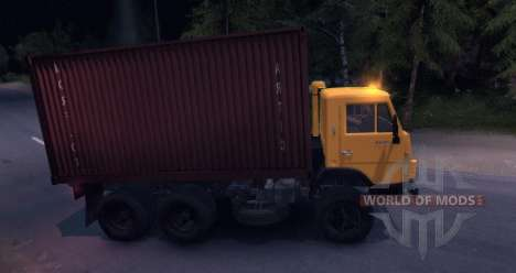 KAMAZ 55102 Container v2.0 for Spin Tires