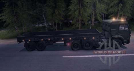 Trucks with trailer for Spin Tires