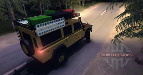 Land Rover Defender 110 CAMEL TROPHY for Spin Tires