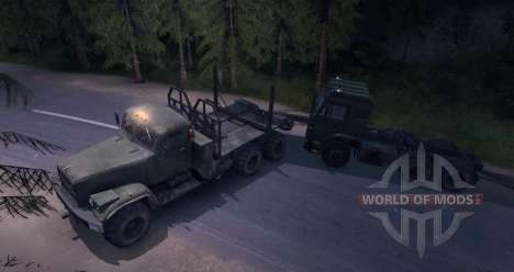 KrAZ Tower for Spin Tires