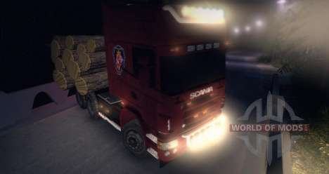 Scania R620 Logging Truck for Spin Tires