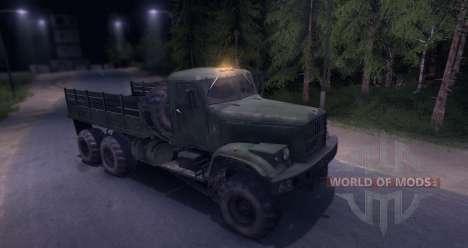 KrAZ truck for Spin Tires