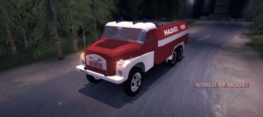 Tatra 148 Firetruck for Spin Tires
