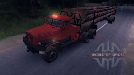 KrAZ timber truck on-road for Spin Tires