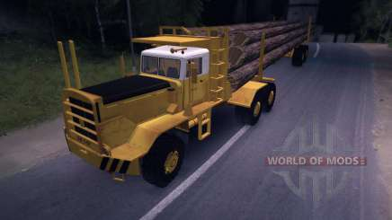 Hayes HQ 142 (HDX) timber truck with semi-trailer for Spin Tires