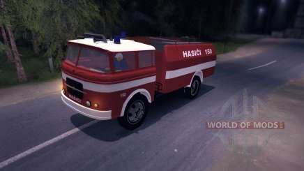 LIAZ (Skoda) 706 RT - old firetruck for Spin Tires