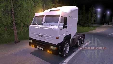 KAMAZ-6460 white for Spin Tires