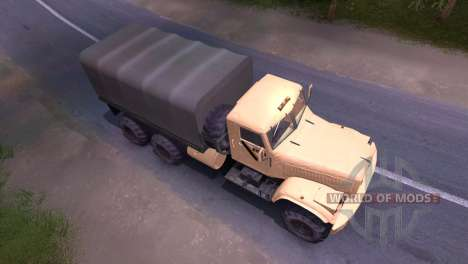 Truck KrAZ-cream for Spin Tires