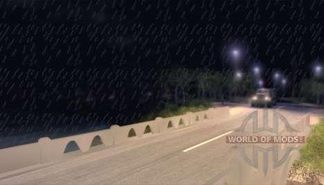 Precipitation as rain for Spin Tires