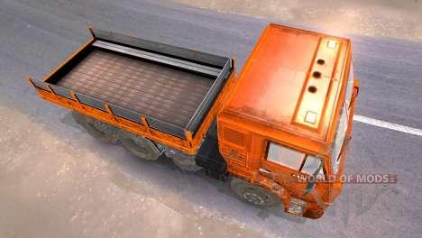 KAMAZ-65117 muddy-Orange for Spin Tires