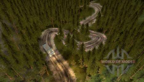 Map of the road to heaven for Spin Tires