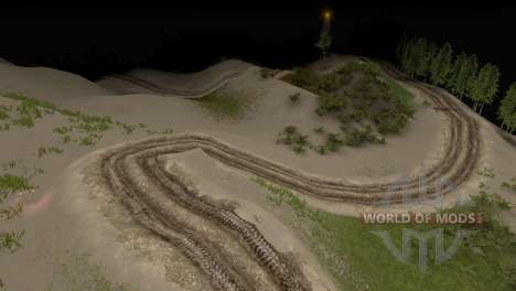 Map of Forest 3 for Spin Tires