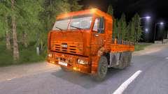 KAMAZ-65117 muddy-Orange