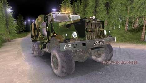 KrAZ truck Camo v2 for Spin Tires