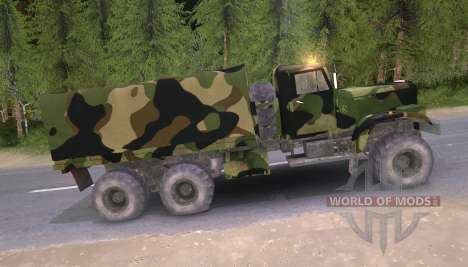 KrAZ truck Camo v2 for Spin Tires