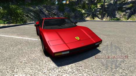 Civetta Bolide Ferrari Red for BeamNG Drive