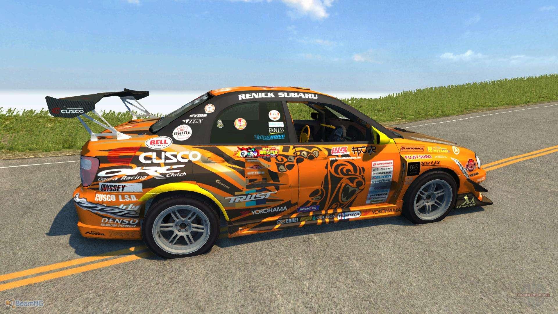 Subaru 7 Passenger >> Subaru Impreza WRX for BeamNG Drive