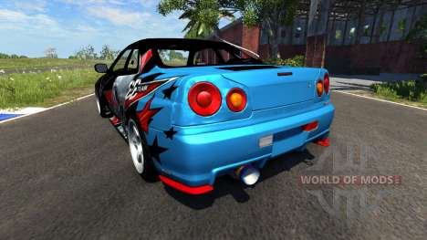 Nissan Skyline R34 GT-R Evil Empire for BeamNG Drive