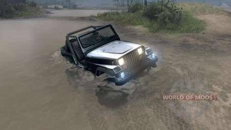 Jeep Wrangler YJ Sahara for Spin Tires