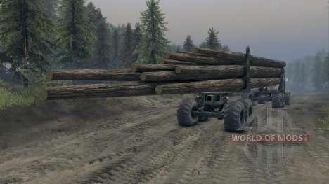 KrAZ-L timber v3.0 for Spin Tires