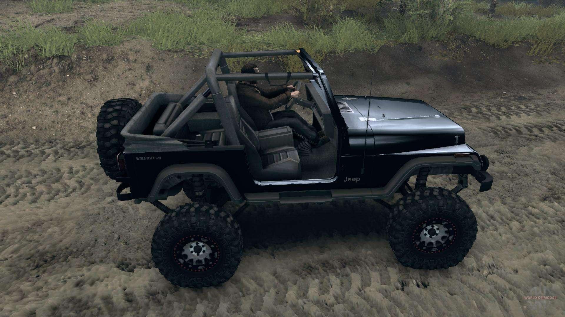 jeep wrangler yj sahara for spin tires. Black Bedroom Furniture Sets. Home Design Ideas