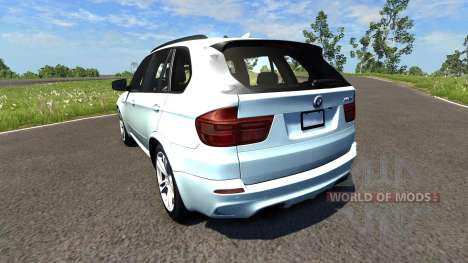 BMW X5M White for BeamNG Drive