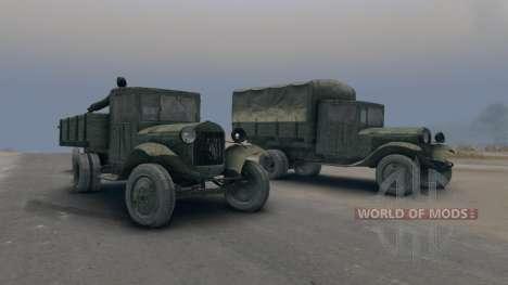 ZiS-5 gun ZIS-3 for Spin Tires