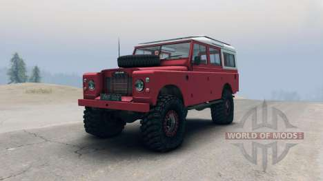 Land Rover Defender Red for Spin Tires