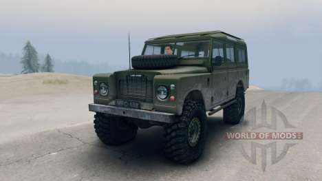 Land Rover Defender Olive for Spin Tires