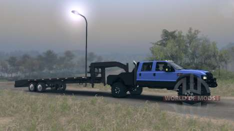 Ford F-350 Super Duty 6.8 2008 GooseNeck for Spin Tires