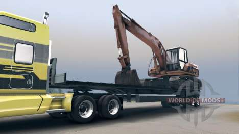 Semitrailer with the excavator for Spin Tires