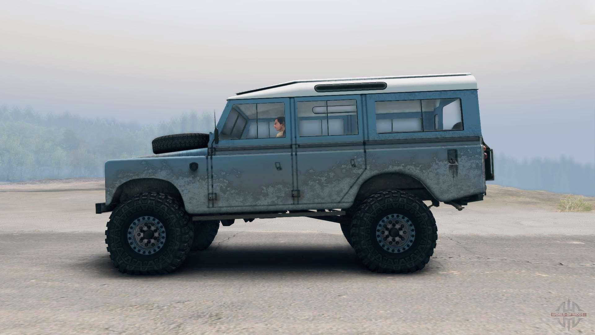 Land Rover Defender Blue For Spin Tires