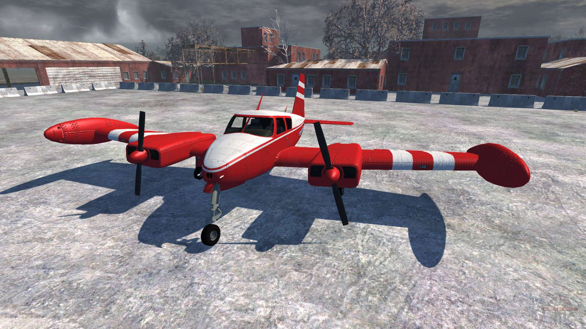 beamng how to fly a plane