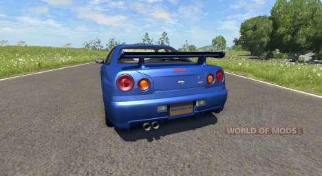Nissan Skyline R34 for BeamNG Drive