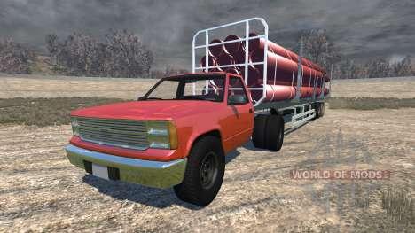 Gavril D-Series full size logging trailer for BeamNG Drive