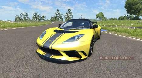 Lotus Evora GTE 2011 [Yellow] for BeamNG Drive