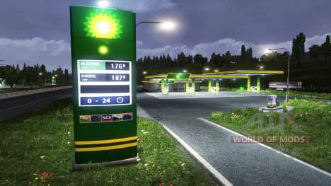 The European petrol stations for Euro Truck Simulator 2
