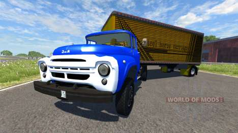 ZIL-V with semi Steel horse carriage for BeamNG Drive