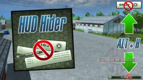 HUD Hider v1.13 for Farming Simulator 2013