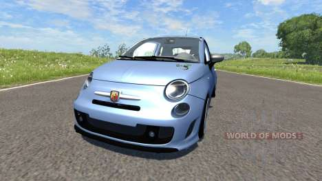 Fiat 500 Abarth Blue for BeamNG Drive