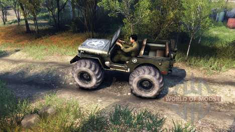 Jeep Willys for Spin Tires