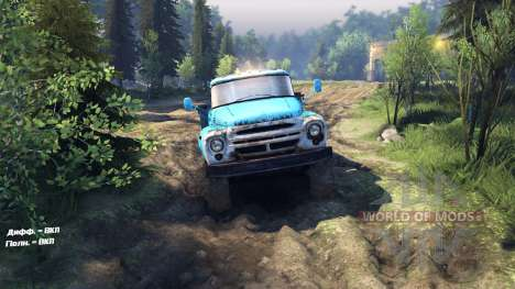 ZIL-130 with a full drive for Spin Tires