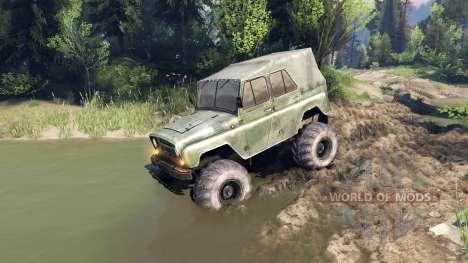УАЗ-469 Monster Truck v3 for Spin Tires