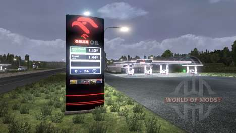 The European petrol stations for Euro Truck Simulator 2
