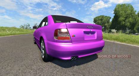Audi S4 2000 [Pantone Purple C] for BeamNG Drive