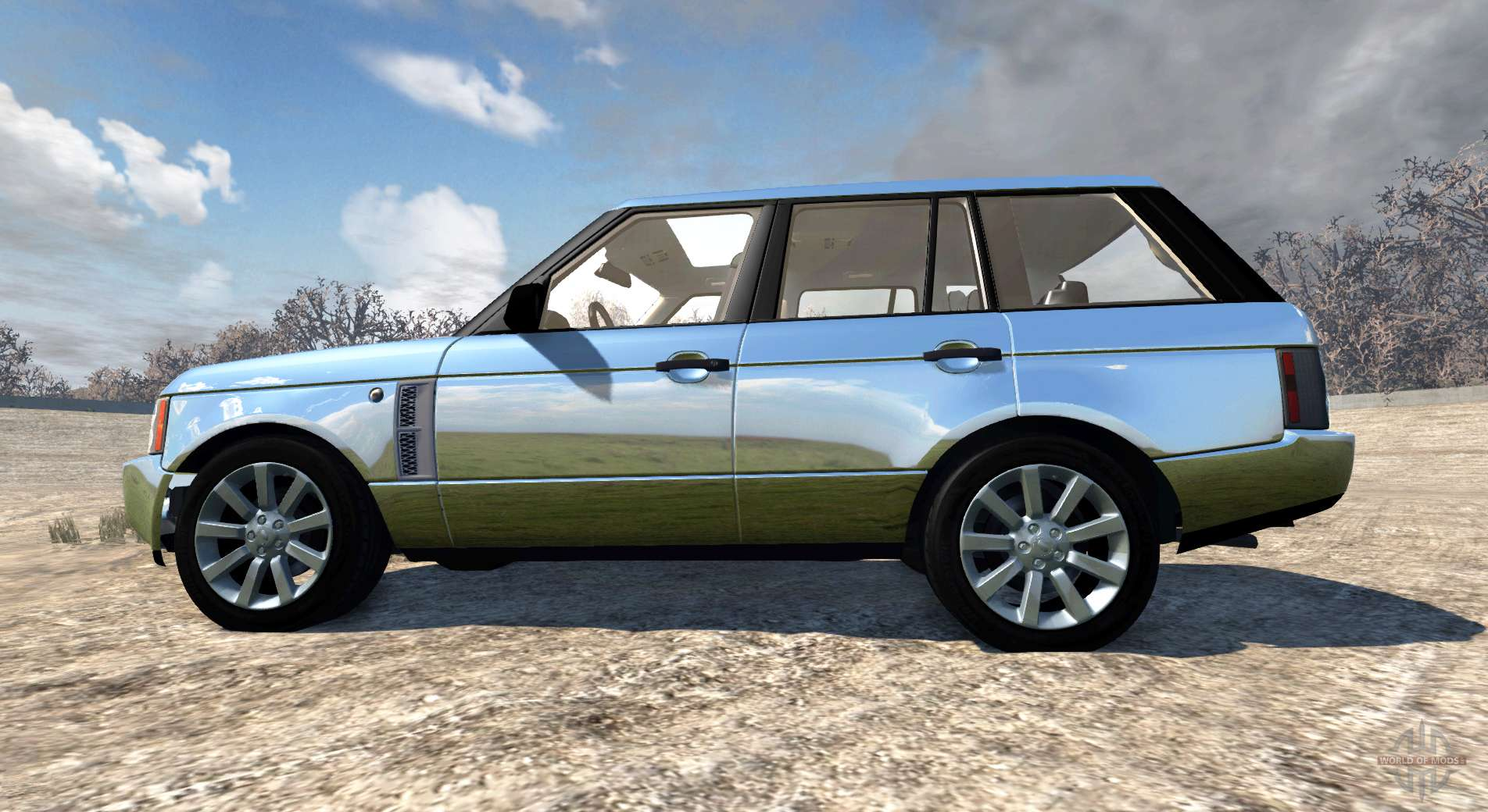range rover supercharged 2008 chrome for beamng drive. Black Bedroom Furniture Sets. Home Design Ideas