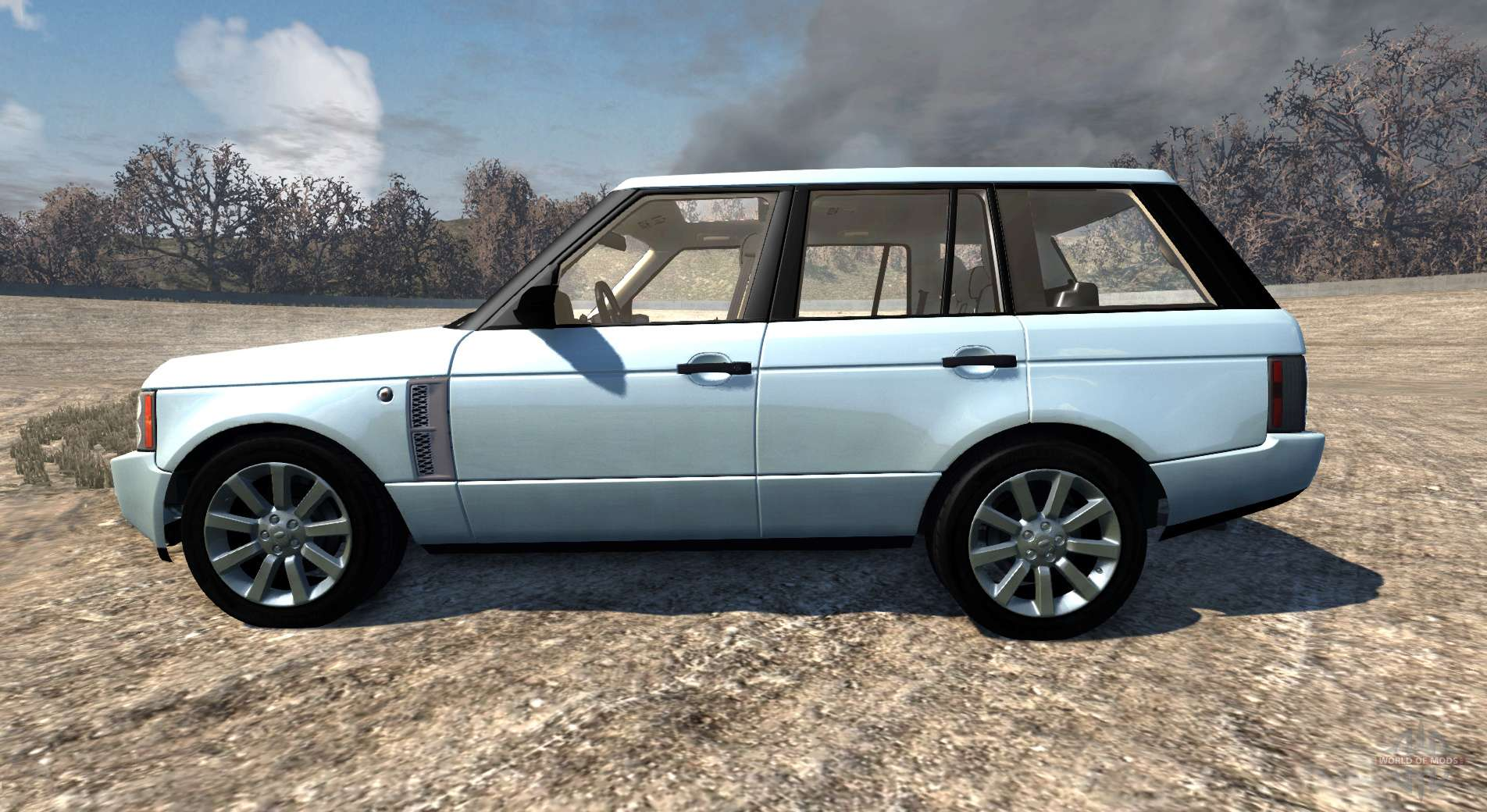 Range Rover Supercharged 2008 White For Beamng Drive