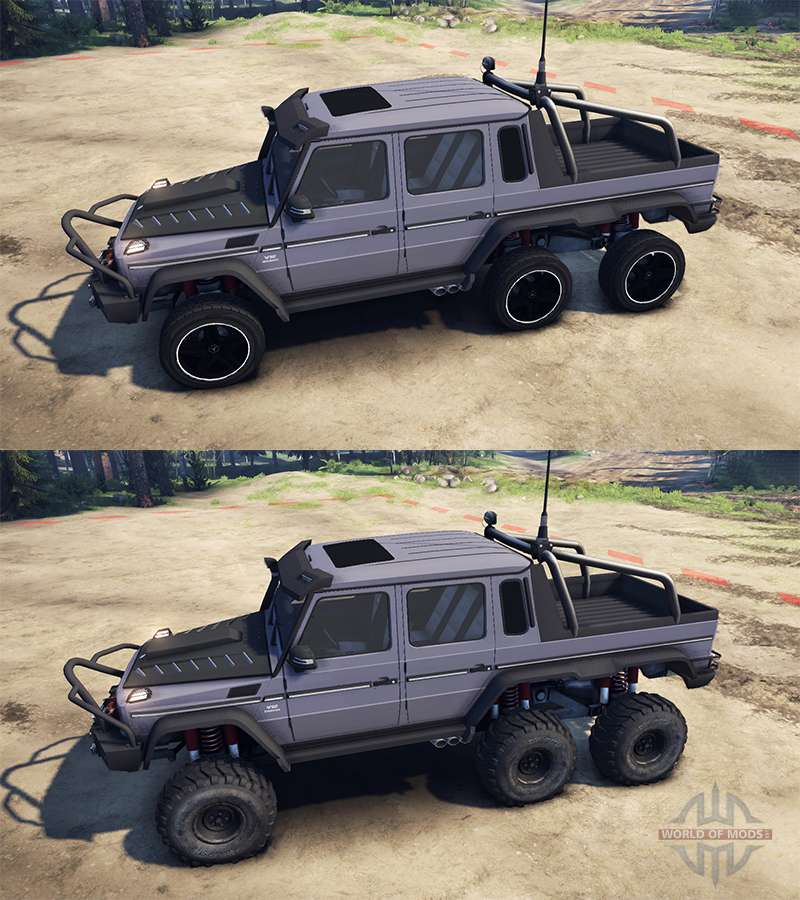 Mercedes benz g65 amg 6x6 ultimate for spin tires for Mercedes benz g65