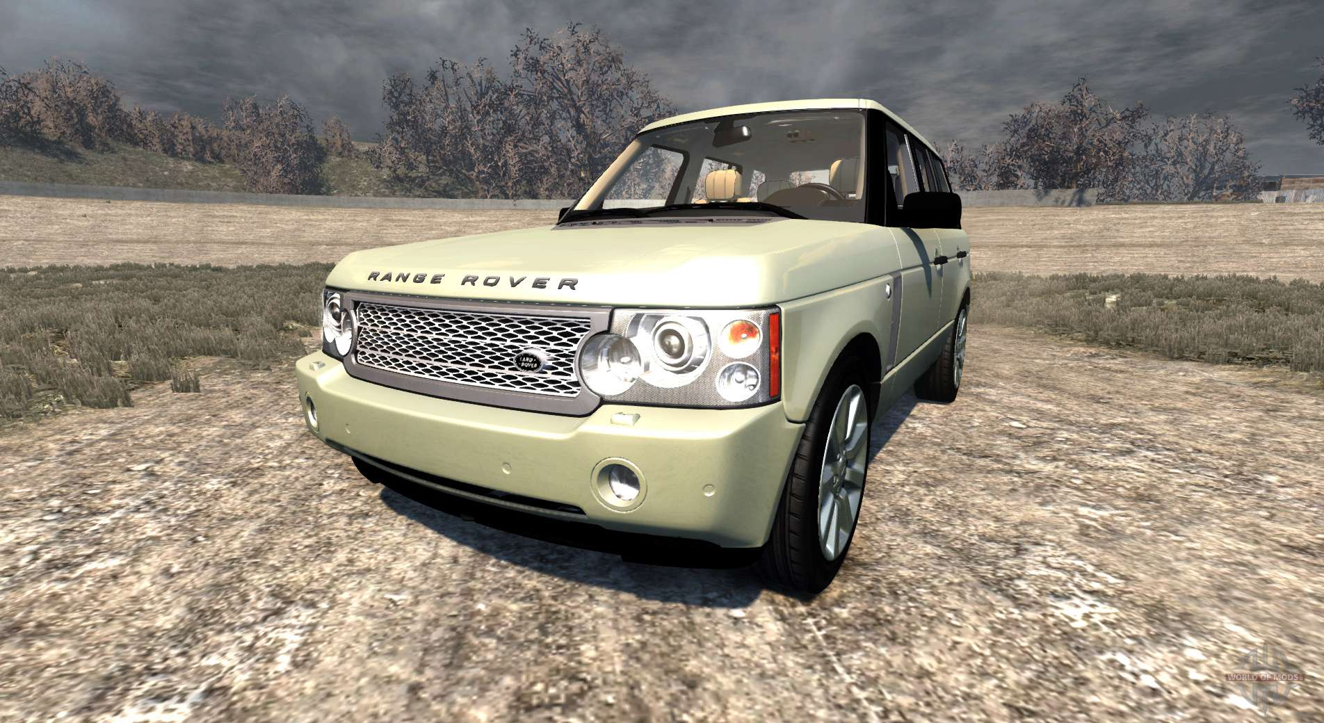 Range Rover Supercharged 2008 Beige For Beamng Drive